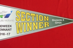 Saturday Winners Pennant Section 4 2016-7 Division 4